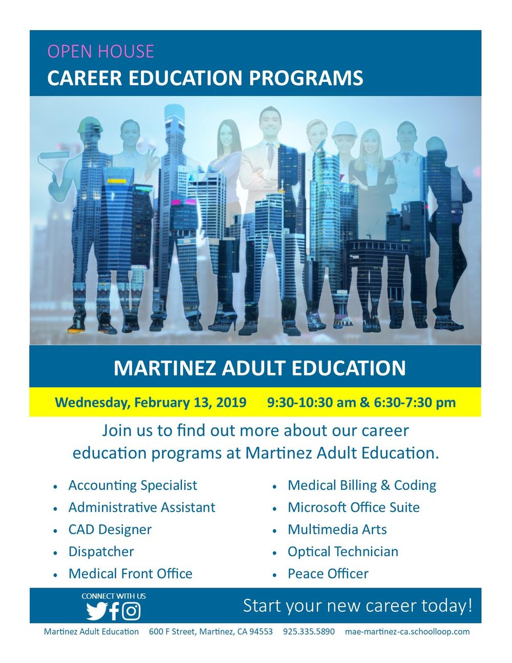 Open House Career Education Programs