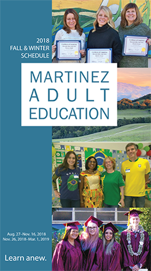 Martinez Adult Education Brochure front