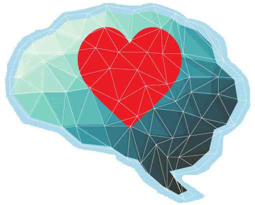 heart superimposed on brain