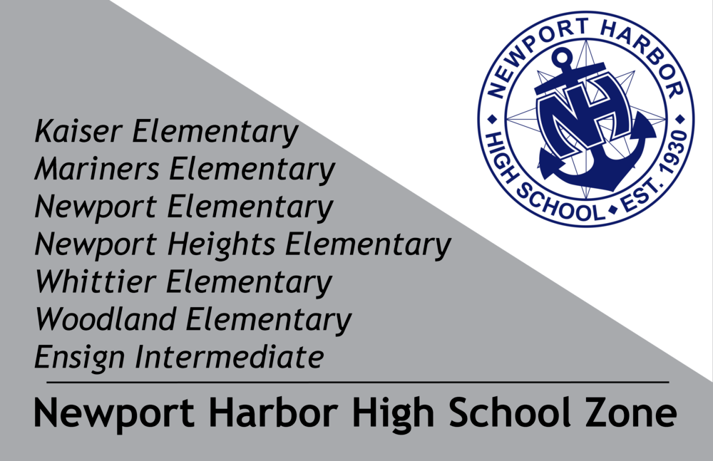 Newport Harbor High School Zone Infographic