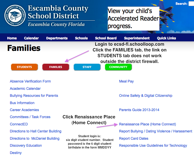 Families Page