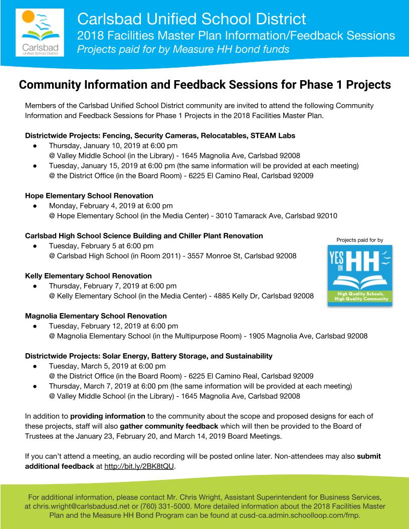 Dates for Feedback Sessions