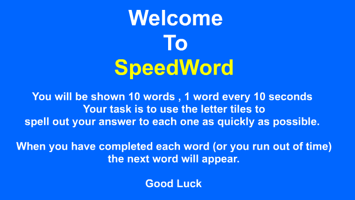 Speedword
