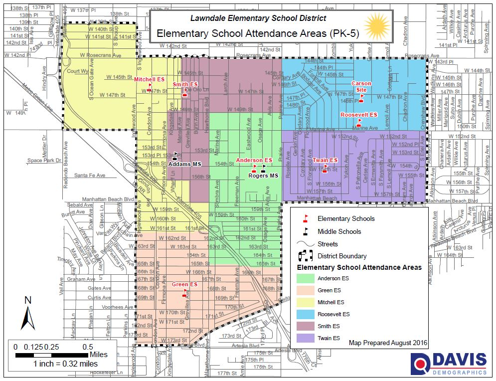 Elementary School Attendance Area Map