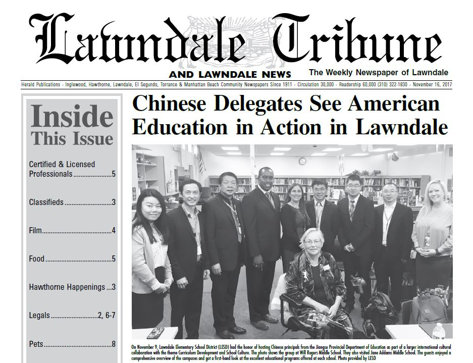 Press clipping about chinese educators visiting