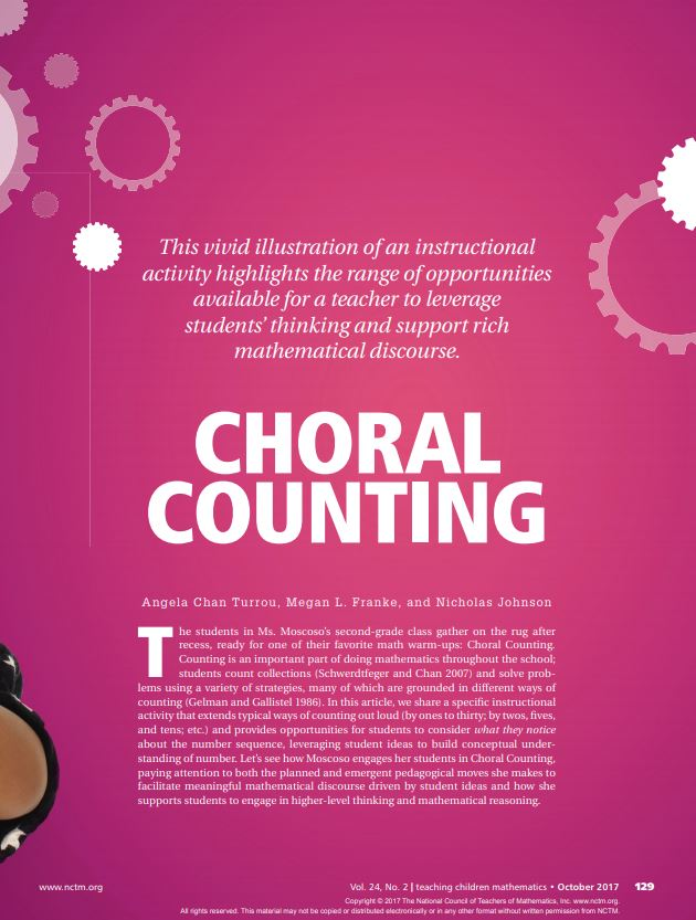 Choral Counting Article scanned from a magizine