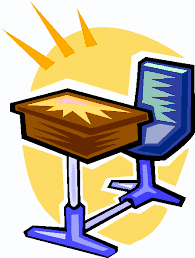 Clip Art Chair and Desk