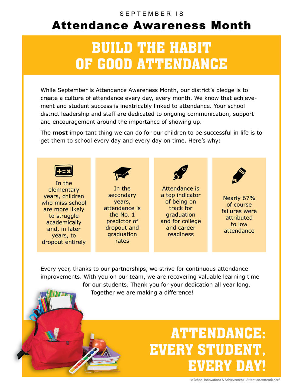 Attendance Awareness Month Flyer
