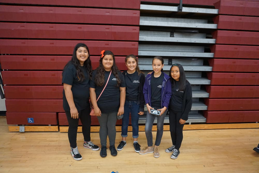 Girls Team at Robotics Competition