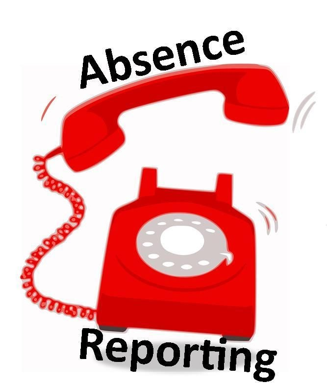 Red absence phone ringing