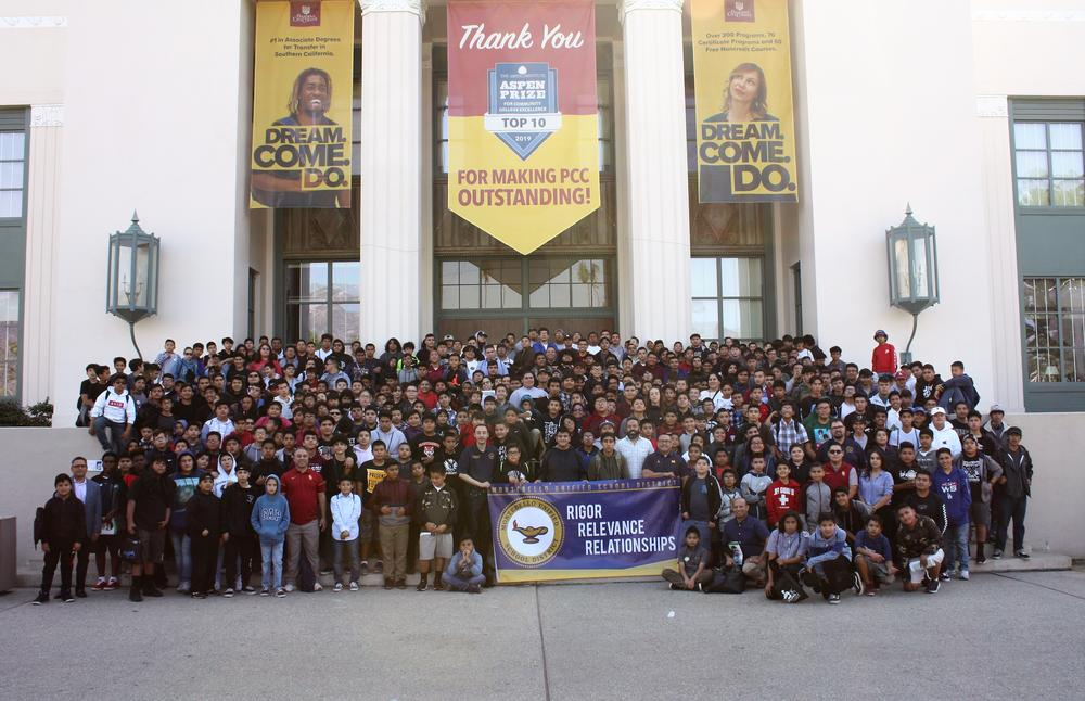 MUSD Students at the Adelante Young Men Conference 2018