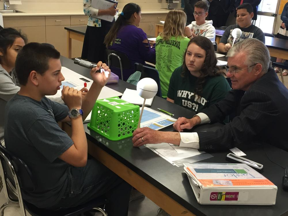 Torlakson with Students