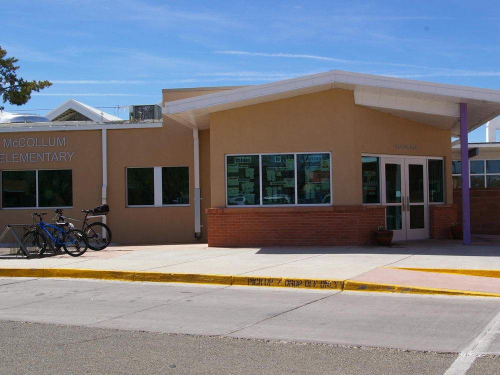 Front of administration office at McCollum