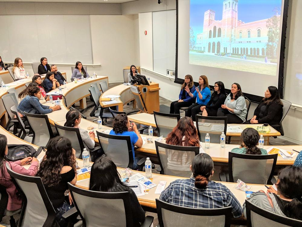 Panel of UCLA College Moms present to McAlister students during College Moms  Summit 2019