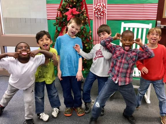 First graders have fun at Christmas time