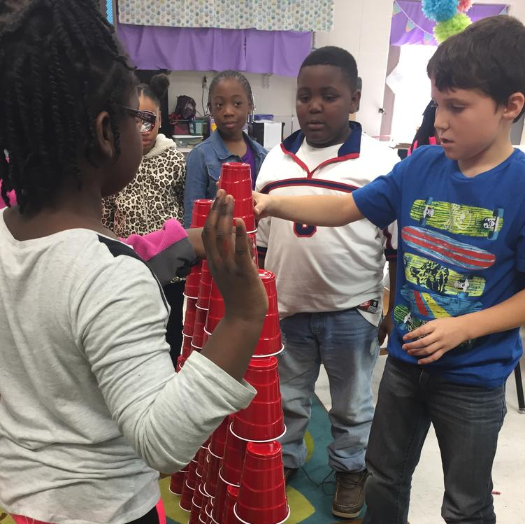 How tall of a tower can you build with 100 cups?