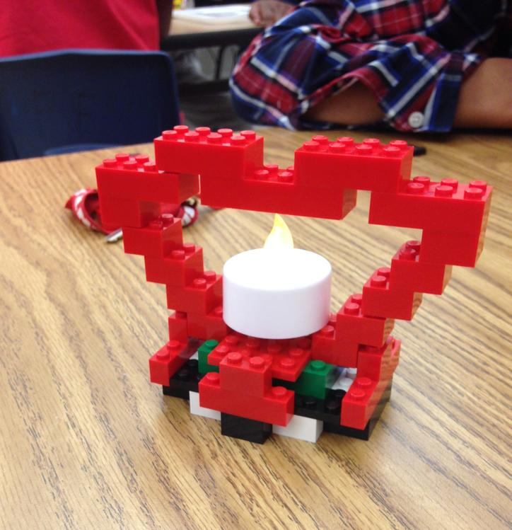 Making a Valentine Candle Holder from LEGOS
