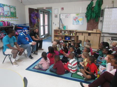 Special friends come to read to us!