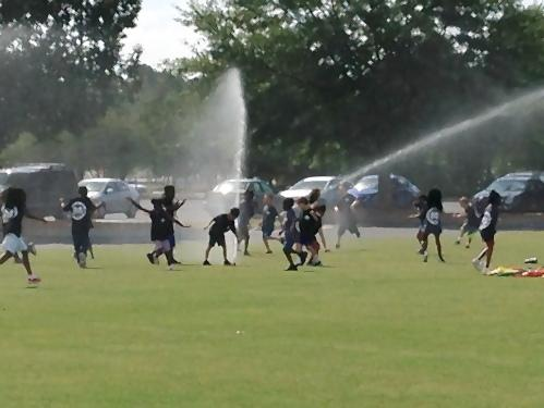 PreK-2 Field Day An unexpected event. Sprinklers!