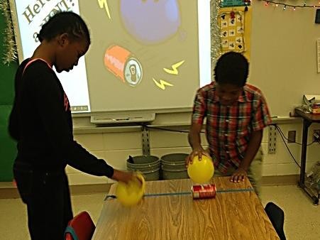 STEM Static Electricity Can Races