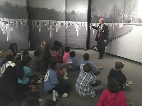 Fifth grade visits the Mighty Eighth Museum