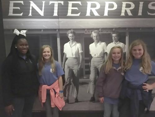 Friends having fun on our Mighty Eighth Field Trip