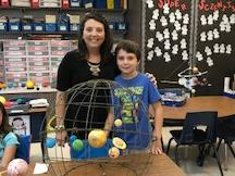 4th grade A hanging solar system..how amazing!