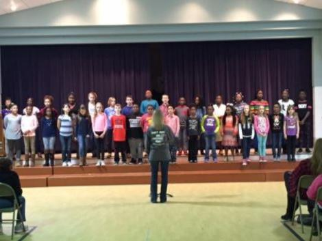 Chorus performs for Family Connections Night