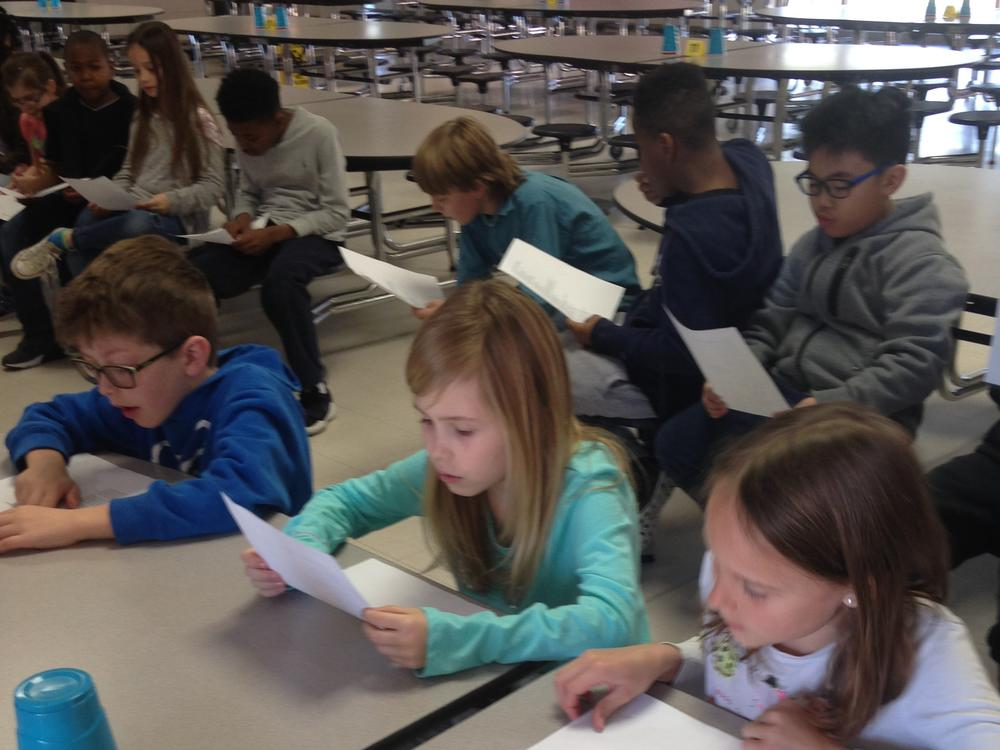 3rd grade Learning the words to our song