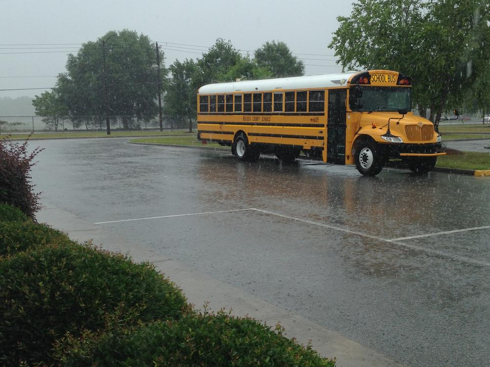 What a rainy way to begin field day