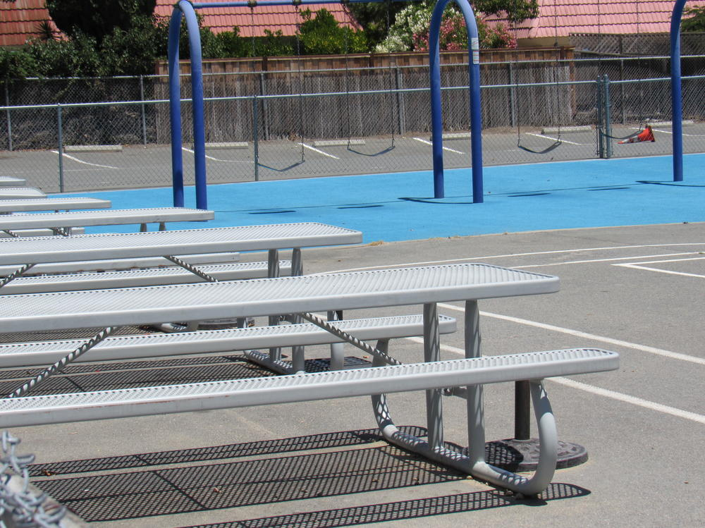 Swings and Lunch Area