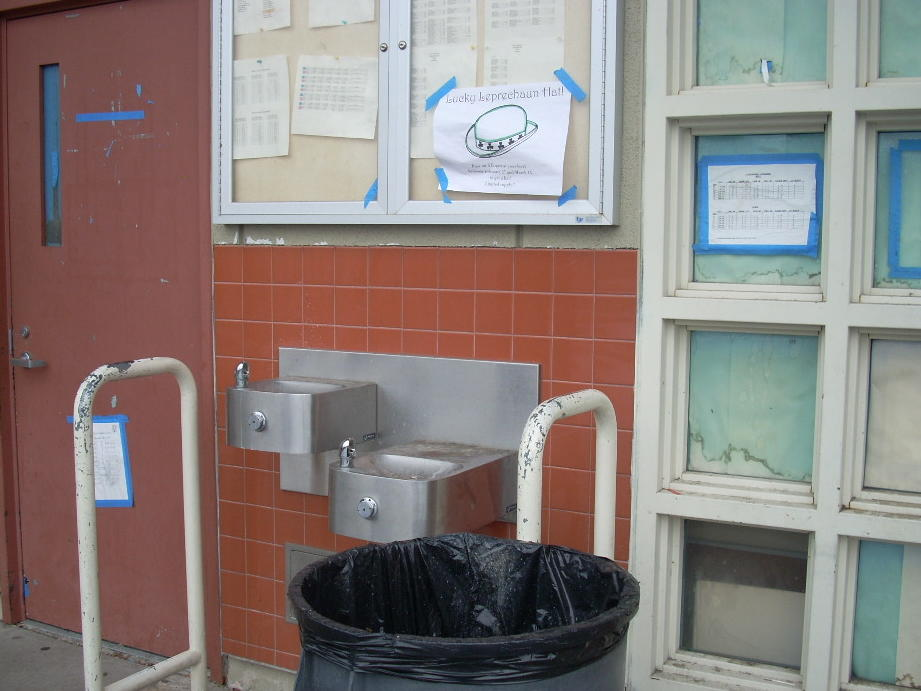 Pe outside gym drinking fountain