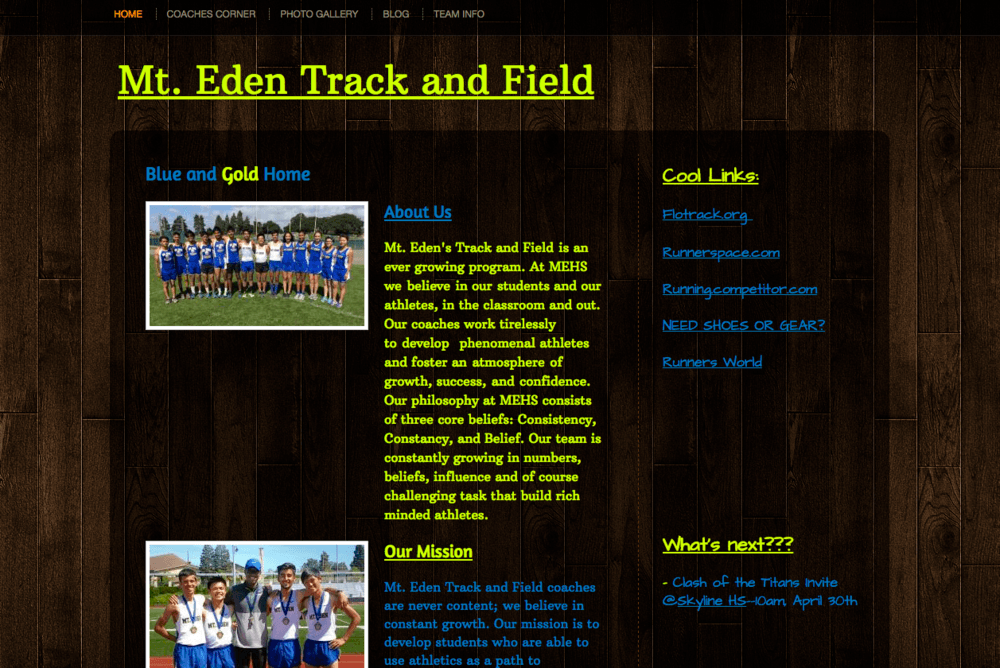 Track Website copy