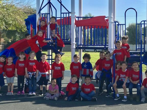 Our kindergarten class part of the 100 mile club