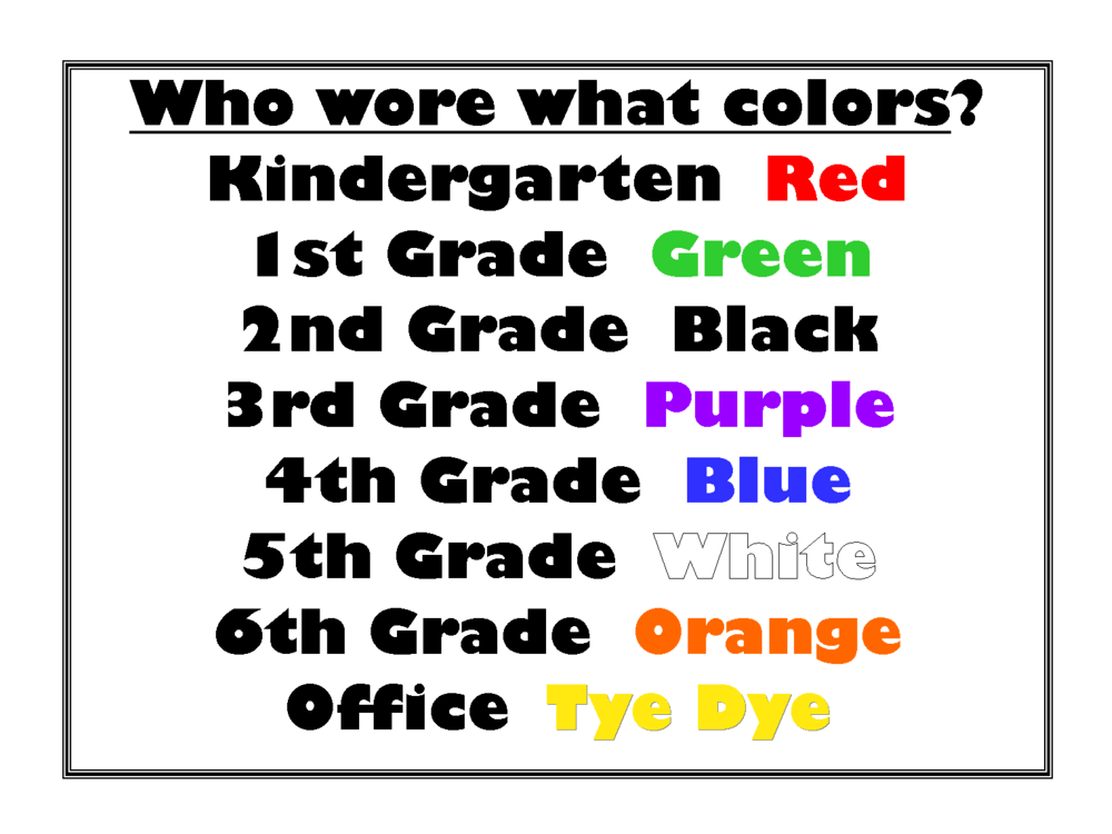 Who wore what colors form