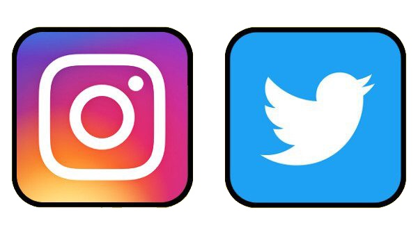Instagram and Twitter Icons