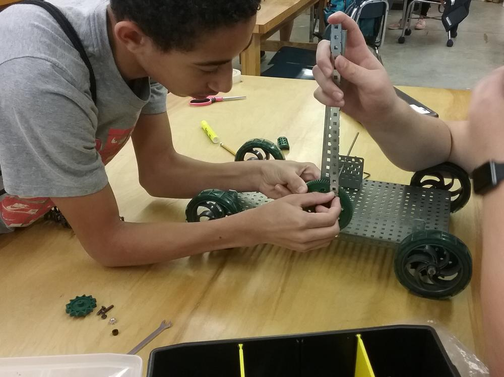 Student created pull toys from Project Lead the Way
