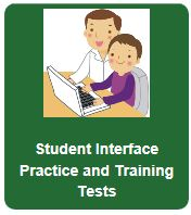 CAASPP Logo for student practice and training tests- clicking the logo will take students to the CAASPP practice and training tests