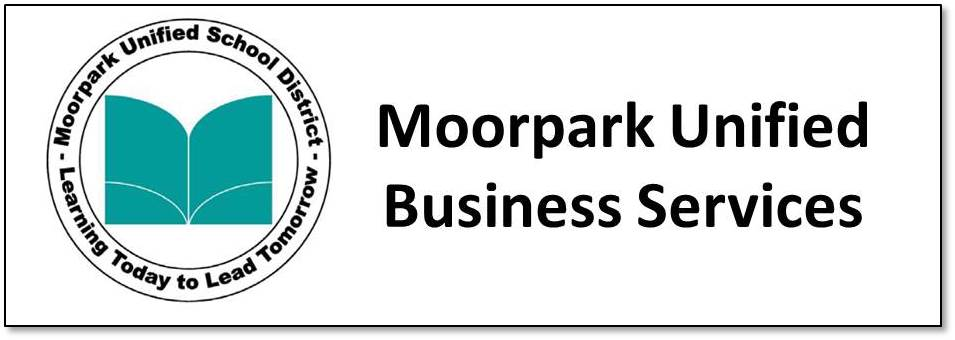 Graphic that says Moorpark Unified Business Services