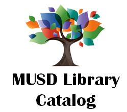 MUSD Library Catalog Logo- clicking the logo will take students to the MUSD Library Catalog
