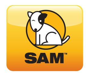 Logo for SAM- The Scholastic Assessment Manager- by clicking on the logo the end user will go to the MUSD login portal for students and staff for the SRI software program and the Reading Counts Software program