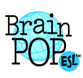 Brain Pop ESL logo- clicking the logo will take students to the Brain Pop ESL program home page