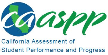 CAASPP Logo- Clicking the logo will take the end user to the CAASPP assessment page