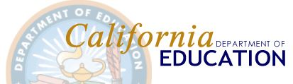 California Department of Education