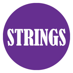 Strings button