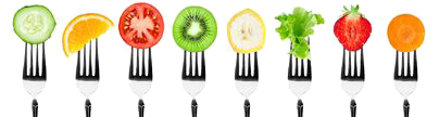 fruits-vegetables-forks