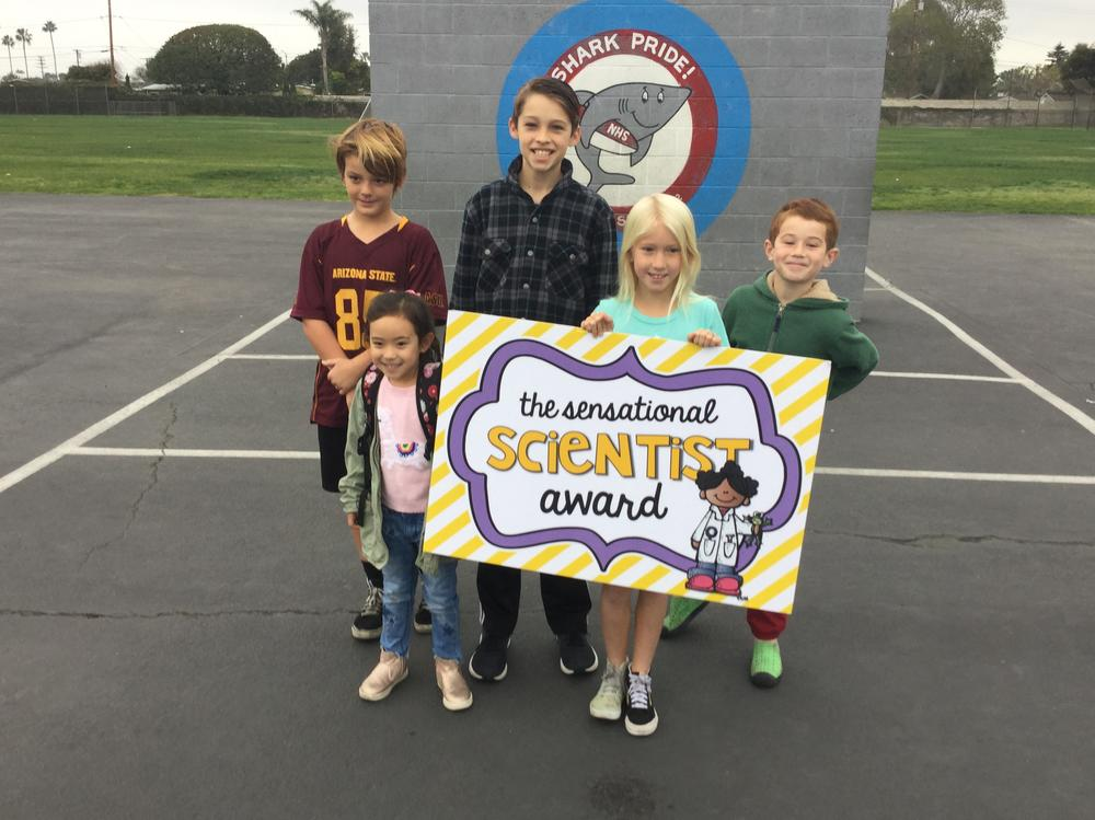 Students who received the Sensational Scientist Award