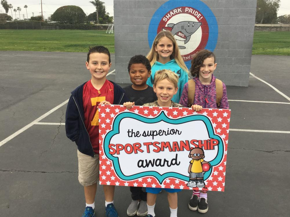 Students who received the Superior Sportsmanship Awards