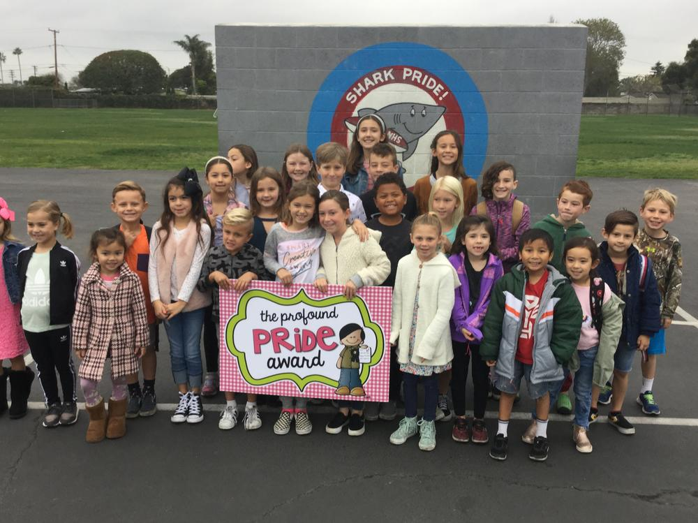 Students who received the Profound Pride Award
