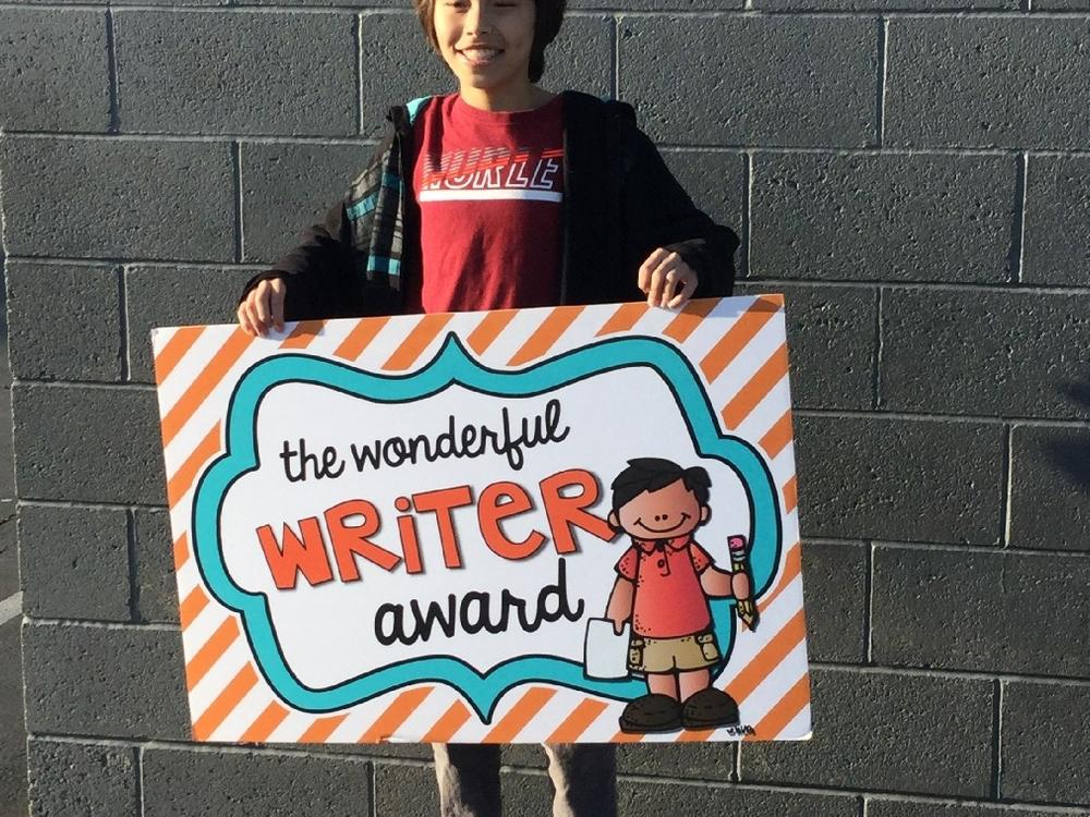 Student who received the Wonderful Reader award